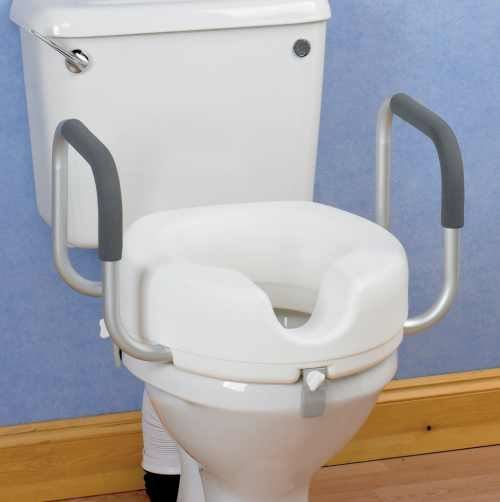 "Raised Toilet Seat 5"" with Arms"