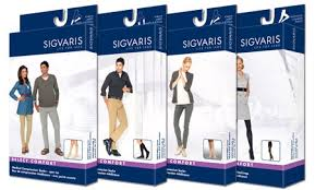 Sigvaris Graduated Compression Stockings: 20-30mmHg & 30-40mmHg.