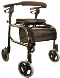 Nexus 3 Rollator Low Tall Handles, Soft Basket